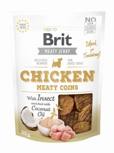 Brit Jerky Snack Owady/Kurczak Insects and chicken Coins 200g