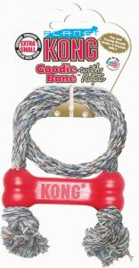 Kong Goodie Bone with Rope XS - bardzo mała